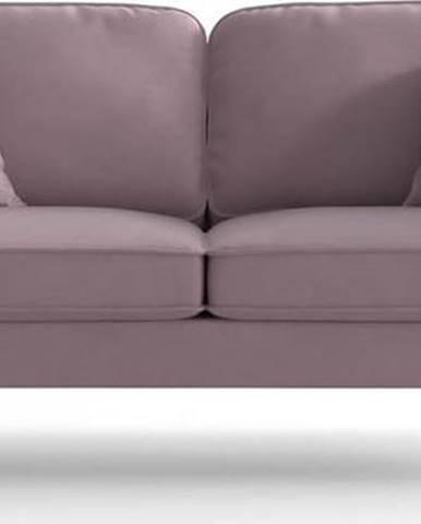 Světle růžová sametová pohovka My Pop Design Auteuil
