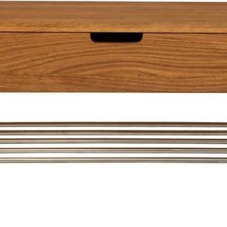 Lavice z masivního dubového dřeva Canett Uno, délka 34cm
