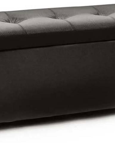 Černá sedací lavice s odkládacím prostorem Tomasucci Nice