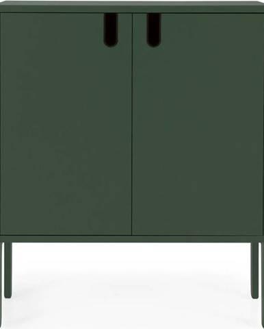 Tmavě zelená skříň Tenzo Uno, šířka 80cm
