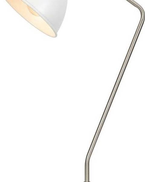 Markslöjd Bílá stolní lampa s detaily ve stříbrné barvě Markslöjd Coast