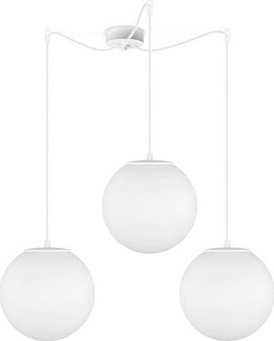 Bílé tříramenné závěsné svítidlo Sotto Luce Tsuki Matte, ⌀ 25 cm