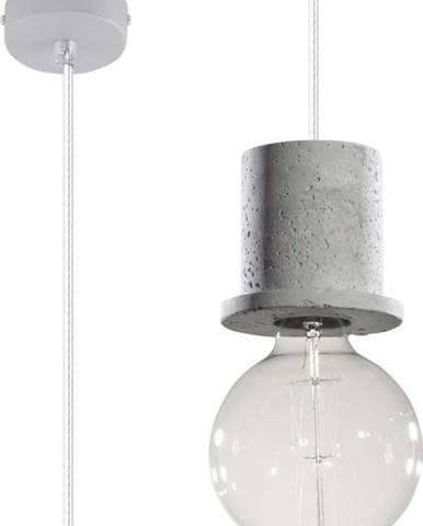 Šedé závěsné svítidlo s betonovou objímkou Nice Lamps Bresso