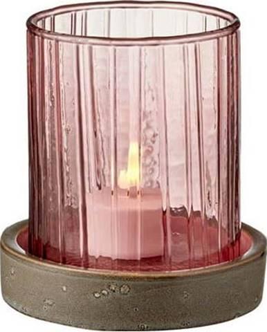 Růžová LED svíčka Bitz Hurricane,výška11cm