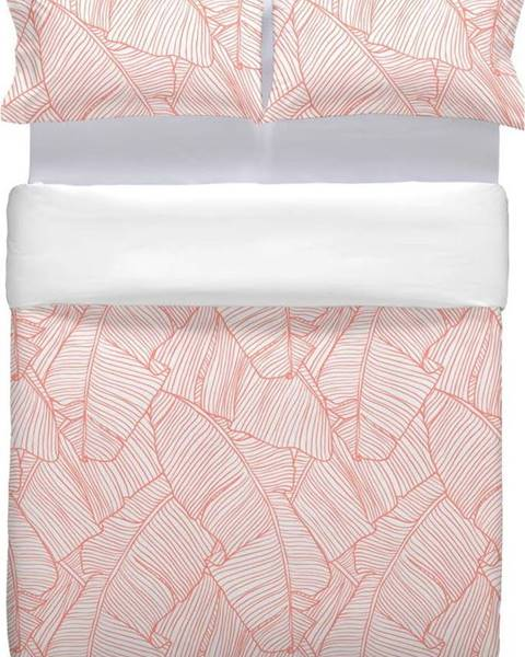 Marghett Růžové bavlněné povlečení na přikrývku Marghett Coral, 220 x 220 cm