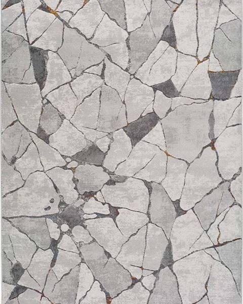 Universal Šedý koberec Universal Berlin Marble, 133 x 190 cm