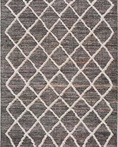 Šedý koberec Universal Farah Cross, 60 x 110 cm