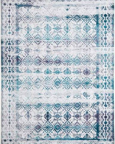 Světle modrý koberec Floorita Kilim, 160 x 230 cm