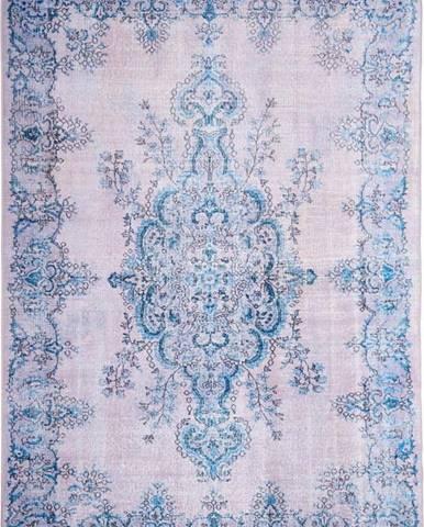 Světle modrý koberec Floorita Sonja, 200 x 290 cm