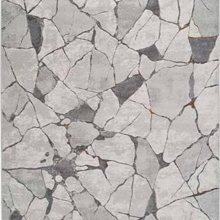 Šedý koberec Universal Berlin Marble, 133 x 190 cm