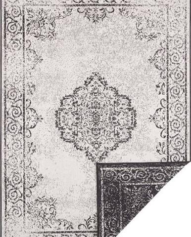 Černo-krémový venkovní koberec Bougari Cebu, 160 x 230 cm