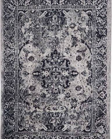 Tmavě šedý koberec Floorita Edessa, 80 x 150 cm