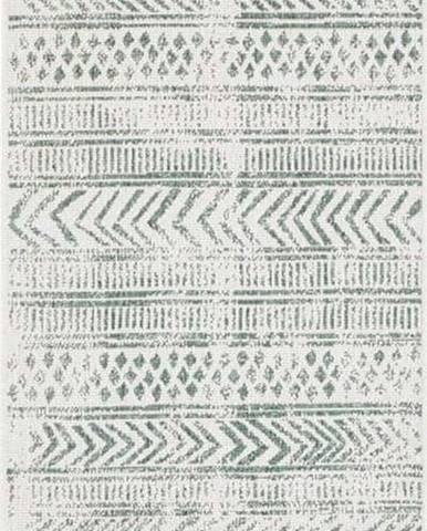 Zeleno-krémový venkovní koberec Bougari Biri, 80 x 350 cm