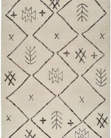 Béžový koberec Universal Marakesh Print, 80 x 150 cm