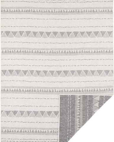 Šedo-krémový venkovní koberec Bougari Bahamas, 80 x 150 cm