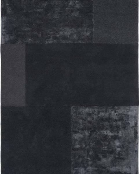 Asiatic Carpets Antracitový koberec Asiatic Carpets Tate Tonal Textures, 160 x 230 cm
