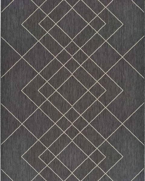 Universal Šedý venkovní koberec Universal Hibis, 135 x 190 cm