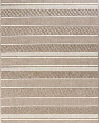 Béžový venkovní koberec Bougari Strap, 200x290cm