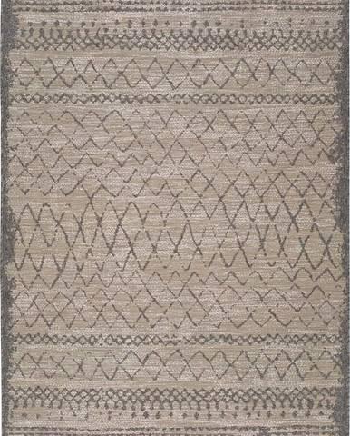 Béžový venkovní koberec Universal Devi Line, 80 x 150 cm