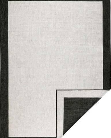 Černo-krémový venkovní koberec Bougari Panama, 80x150 cm