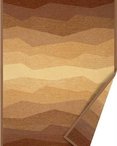 Hnědý oboustranný koberec Narma Merise, 70 x 140 cm