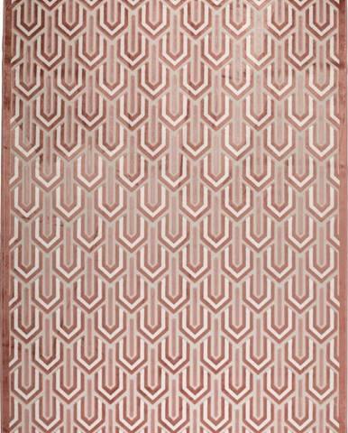 Růžový koberec Zuiver Beverly,170x240cm