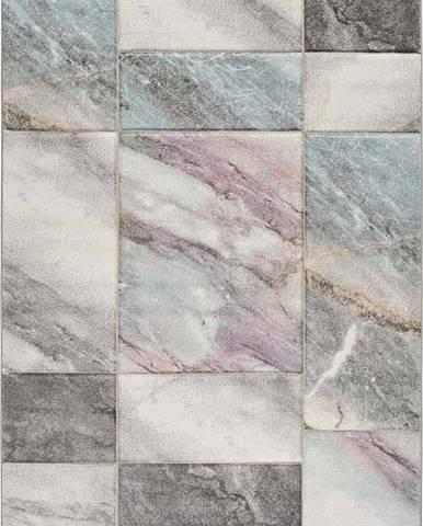 Šedo-růžový koberec Universal Pinky, 140 x 200 cm