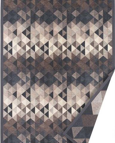 Šedý oboustranný koberec Narma Kiva, 80 x 250 cm