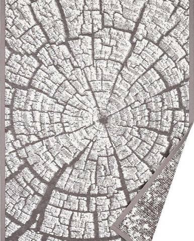 Šedý oboustranný koberec Narma Maramaa, 140 x 200 cm