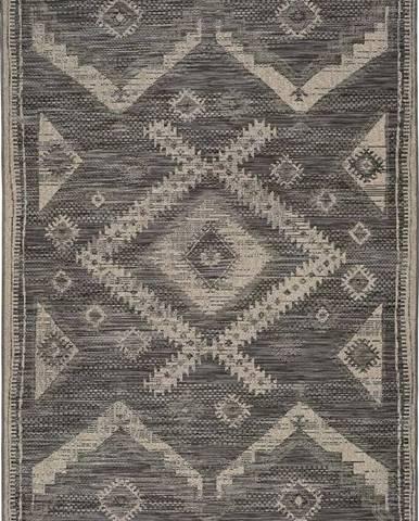 Šedý venkovní koberec Universal Devi Ethnic, 120 x 170 cm