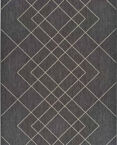 Šedý venkovní koberec Universal Hibis, 80 x 150 cm