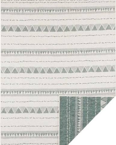 Zeleno-krémový venkovní koberec Bougari Bahamas, 80 x 150 cm