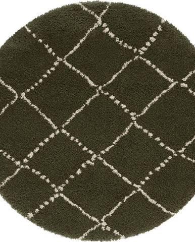 Zelený koberec Mint Rugs Hash, ⌀ 120 cm