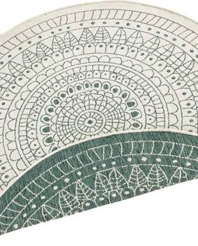 Zelený venkovní koberec Bougari Porto, ø 200 cm