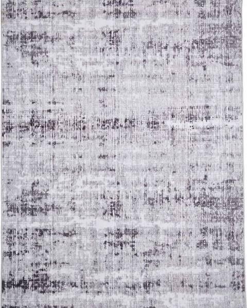 Floorita Šedý koberec Floorita Abstract, 80 x 150 cm