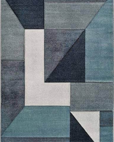 Modrý koberec Universal Mya Geo, 80 x 150 cm
