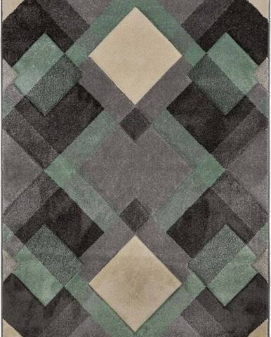 Šedo-zelený koberec Flair Rugs Nimbus, 160 x 230 cm