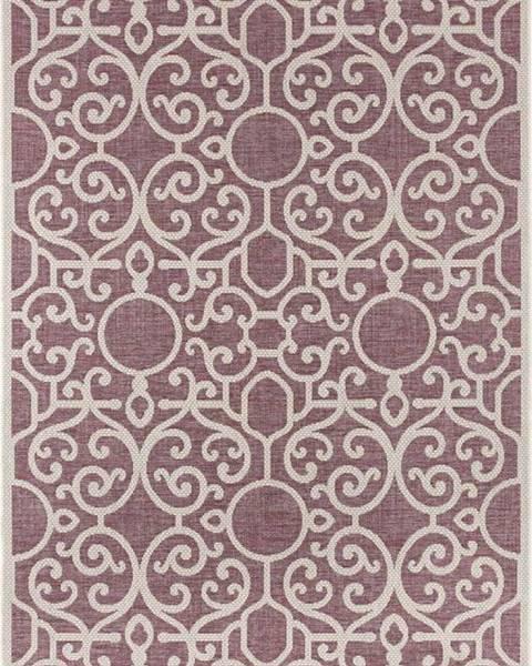 Bougari Fialovo-béžový venkovní koberec Bougari Nebo, 140 x 200 cm