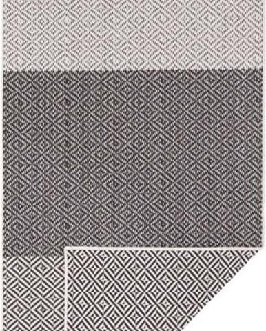 Béžovo-černý oboustranný venkovní koberec Bougari Borneo, 80 x 350 cm
