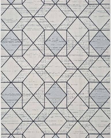 Bílošedý venkovní koberec Universal Elba Geo, 160 x 230 cm