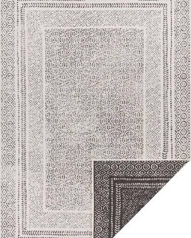 Černo-bílý venkovní koberec Ragami Berlin, 160 x 230 cm