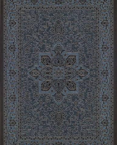 Černo-šedý venkovní koberec Bougari Anjara, 140 x 200 cm