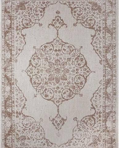 Hnědo-béžový venkovní koberec Ragami Oslo, 160 x 230 cm
