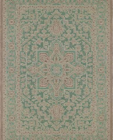 Zeleno-béžový venkovní koberec Bougari Anjara, 140 x 200 cm