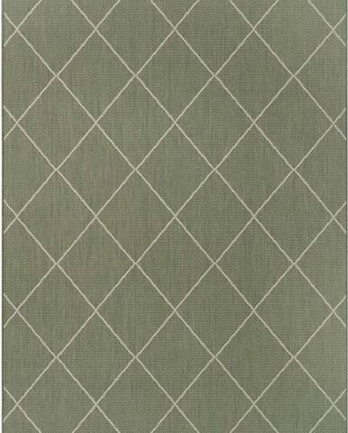 Zelený venkovní koberec Ragami London, 80 x 150 cm