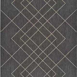 Šedý venkovní koberec Universal Hibis, 135 x 190 cm