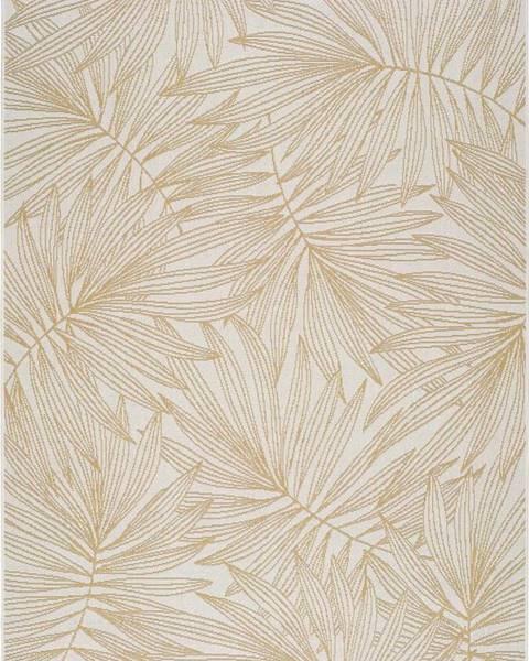 Universal Béžový venkovní koberec Universal Hibis Leaf, 160 x 230 cm