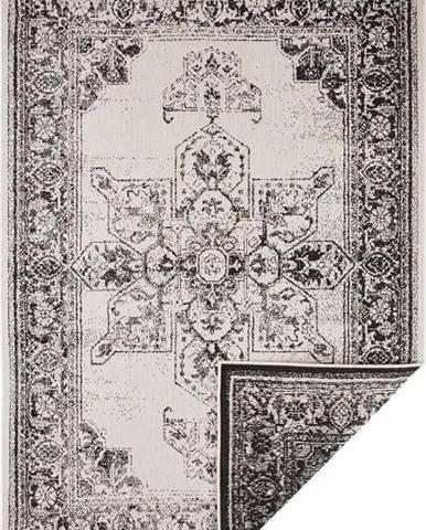 Černo-krémový venkovní koberec Bougari Borbon, 200 x 290 cm