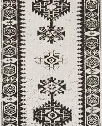 Černo-krémový venkovní koberec Bougari Duque, 80 x 250 cm