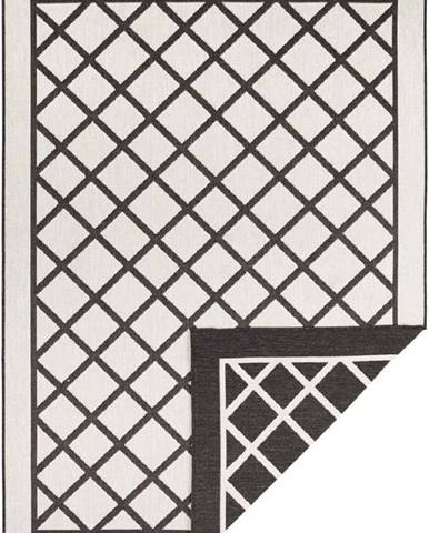 Černo-krémový venkovní koberec Bougari Sydney, 80 x 150 cm